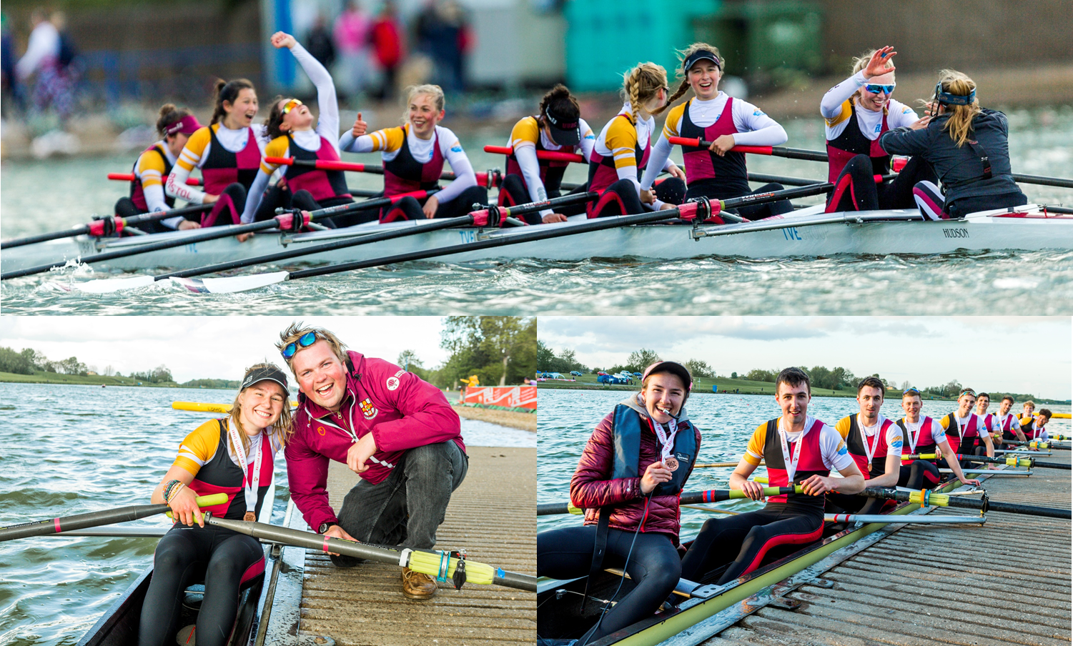 All smiles for Saturday's medalling crews.